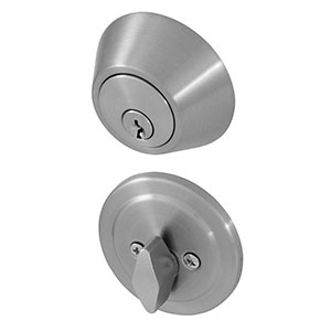 Honeywell Single Cylinder Deadbolt, Satin Nickel, 8111309
