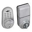 Honeywell Digital Door Lock and Deadbolt with Remote in Satin Chrome, 8613309