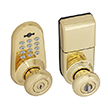 Honeywell Digital Door Lock Entry Knob with Remote in Polished Brass, 8632001