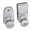 Honeywell Digital Door Lock Entry Knob with Remote in Satin Chrome, 8632301