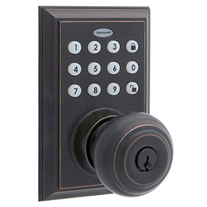 Honeywell Bluetooth Enabled Digital Door Knob Lock With Keypad, Oil Rubbed Bronze, 8832401S
