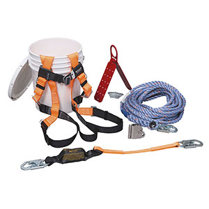 Honeywell Complete Roofer's Fall Protection System with 50-ft. (15 m) rope lifeline - BRFK50-Z7/50FT
