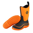 Muck Boots Kid's Hale Outdoor Sport Boot, Neon Black/Orange, KBH-700