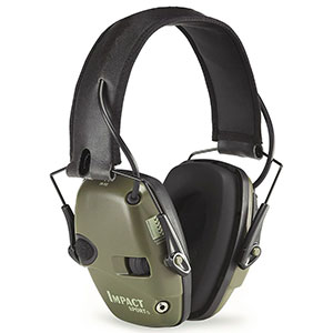 Honeywell Impact Sport Bolt Sound Amplification Earmuff, Hunter Green - R-01526
