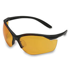 Honeywell Vapor II Shooter's Safety Eyewear, Black frame, Orange Lens - R-01537
