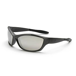 Honeywell 1000 Series Shooter's Safety Eyewear, Gunmetal Frame, Silver Mirror Lens, Anti-Fog & Scratch-Resistant - R-01759