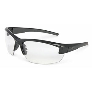 Honeywell Mercury Shooter's Safety Eyewear, Black Frame, Clear Lens - R-02104