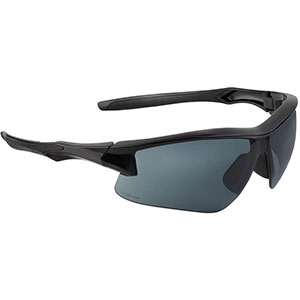 Honeywell Acadia Shooter's Safety Eyewear, Black Frame, Gray Lens - R-02217