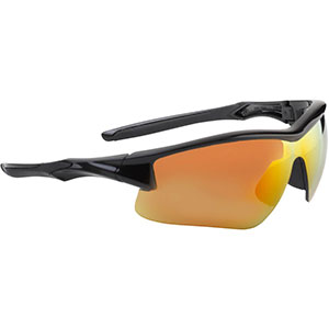 Honeywell Acadia Shooter's Safety Eyewear, Black, Red Mirror Lens - R-02219