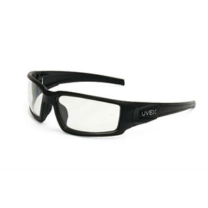 Honeywell Hypershock Shooter's Safety Eyewear, Black Frame, Clear Lens with HydroShield Anti-Fog lens - R-02230