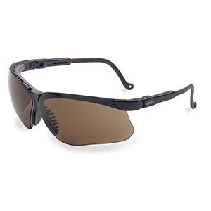 Honeywell Genesis Shooter's Safety Eyewear, Black Frame, Espresso Lens - R-03572