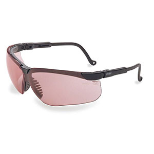 Honeywell Genesis Shooters Safety Eyewear, Black Frame/Vermillion Lens - R-03575