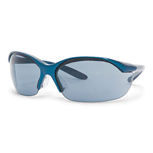 Honeywell Vapor Safety Eyewear, Sporty Metallic Blue, TSR Gray Lens - RWS-51005