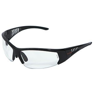 Honeywell HS100 Safety Eyewear, Gloss Black Frame, Clear Lens- RWS-51064