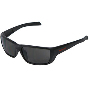 Honeywell HS200 Safety Eyewear, Retro styled, Matte Black Frame, Gray Lens, Scratch-Resistant Hardcoat Lens Coating - RWS-51068