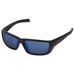Honeywell HS200 Safety Eyewear, Retro styled, Matte Black Frame, Blue Mirror Lens, Scratch-Resistant Hardcoat Lens Coating - RWS-51069