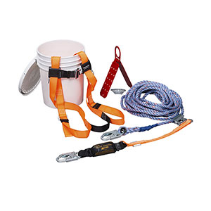 Honeywell Compliant Fall Protection Roof Kit with 25-ft. lifeline - TRK2000-Z7