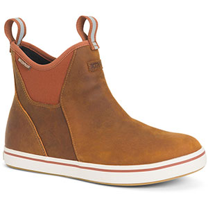 XTRATUF XAL-700 Leather Ankle Deck Boot, Orange