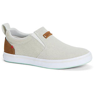 XTRATUF Women's Canvas Sharkbyte Deck Shoe, Grey - XSW-100