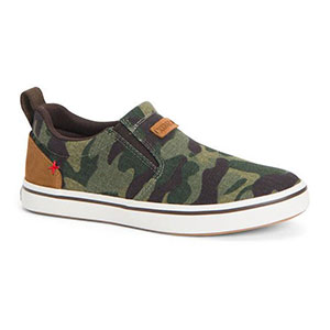 XTRATUF Women's Canvas Sharkbyte Deck Shoe, Camo - XSW-CAM