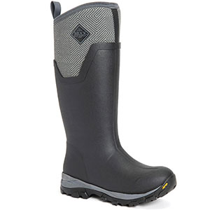Muck AS2TV-101 Arctic Ice Ag Tall Boot, Black/Grey Geometric