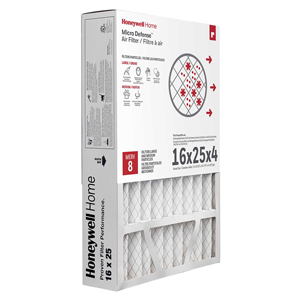 Honeywell Air Filter High Efficiency CF100A1009/U, 16x25x4 - Merv 8