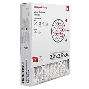 Honeywell CF100A1025 4-Inch High Efficiency Air Cleaning Filter 20x25x4'