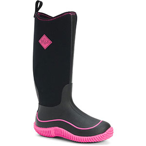 Muck HAW-404 Hale Boot, Black / Hot Pink