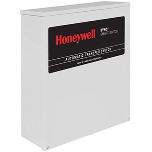 Honeywell RTSK100A3 Single Phase 100 Amp/240 Volt Sync Transfer Switch, Non Service-Rated
