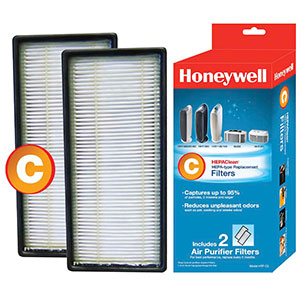 Honeywell HRF-C2, HEPAClean Replacement Filter - 2 Pack