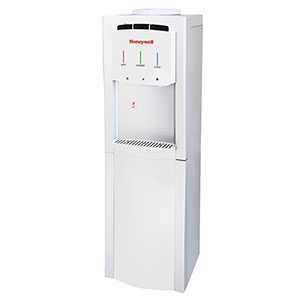 Honeywell 41-Inch Freestanding Toploading Water Cooler, Hot, Room & Cold Temperatures with Thermostat Control, White - HWB1033W2