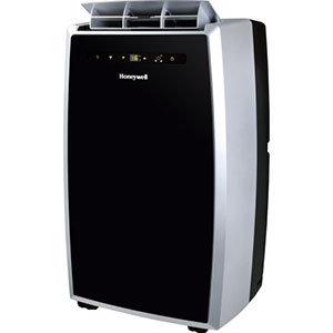 Honeywell MN12CES Portable Air Conditioner, 12,000 BTU Cooling (Black-Silver)