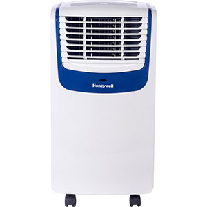 Honeywell MO08CESWB Compact Air Conditioner, 8,000 BTU Cooling, with Dehumidifier & Fan (White/Blue)
