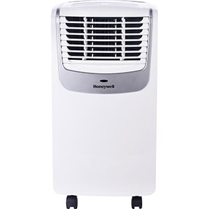 Honeywell MO08CESWS Compact Air Conditioner, 8,000 BTU Cooling, with Dehumidifier & Fan (White/Silver)