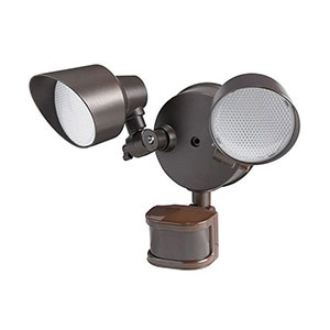 Honeywell LED PIR Floodlight, 2400 Lumen, 2 Headed 2 Stage Lighting with Motion Detection, NS0031-78TC
