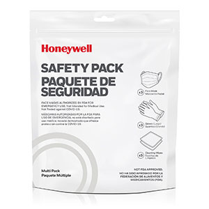 Honeywell Safety Multi Pack - 3 Face Masks, 3 Gloves & 5 Cleaning Wipes - RWS-50101