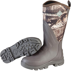 Muck Men's Woody Grit Boot, Brown / Mossy Oak Infinity - WDC-INF